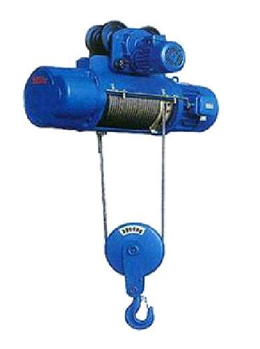 China CD1 2 Ton x 6m Single Speed Wirerope Electric Hoist