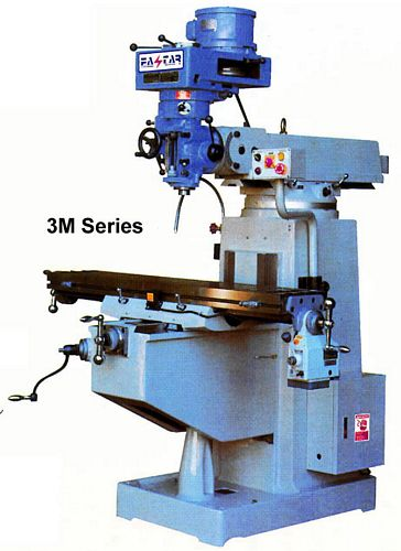 Taiwan 3VM-ISO40 Vertical Turret Milling Machine